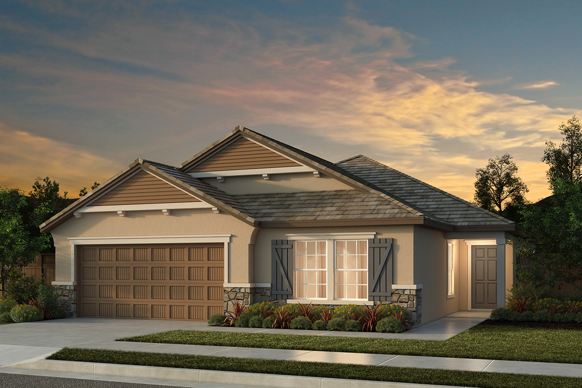 New Homes in Manteca, CA - Haven Villas at Sundance Plan 1625 French Cottage