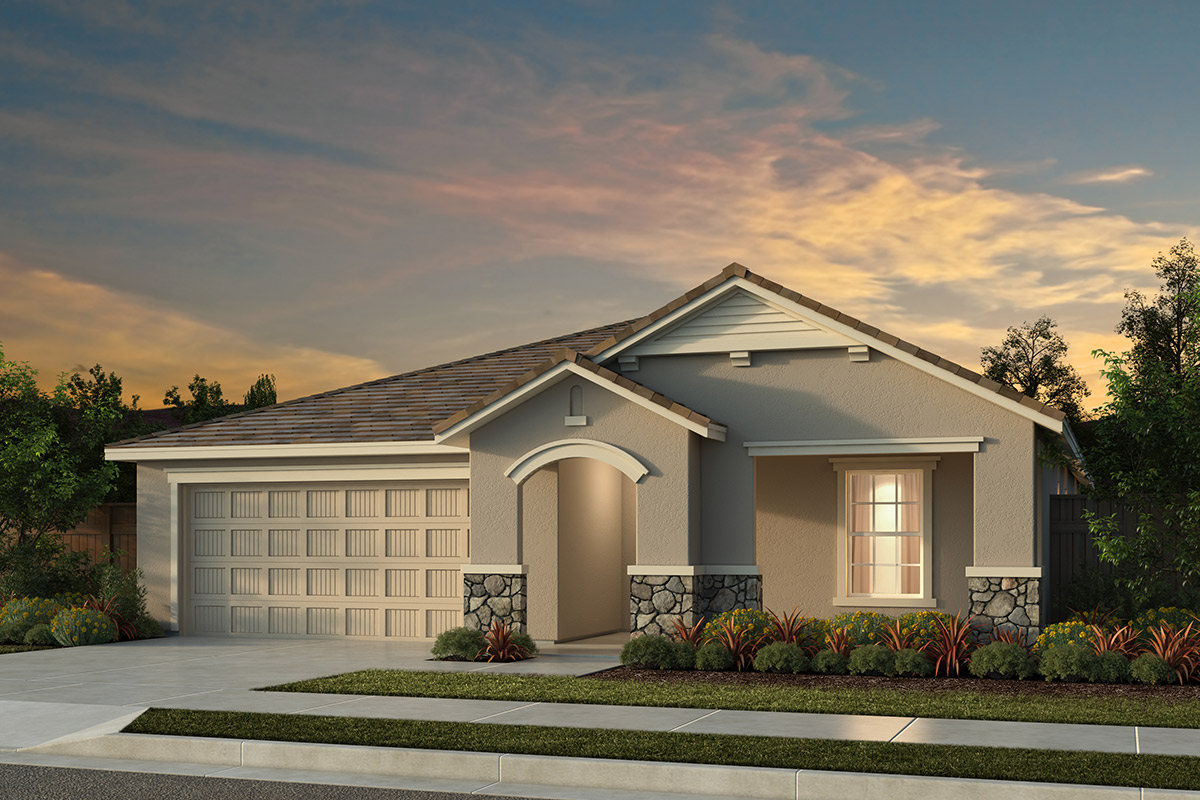 New Homes in Manteca, CA - Haven Villas at Sundance Plan 1718 - French Cottage