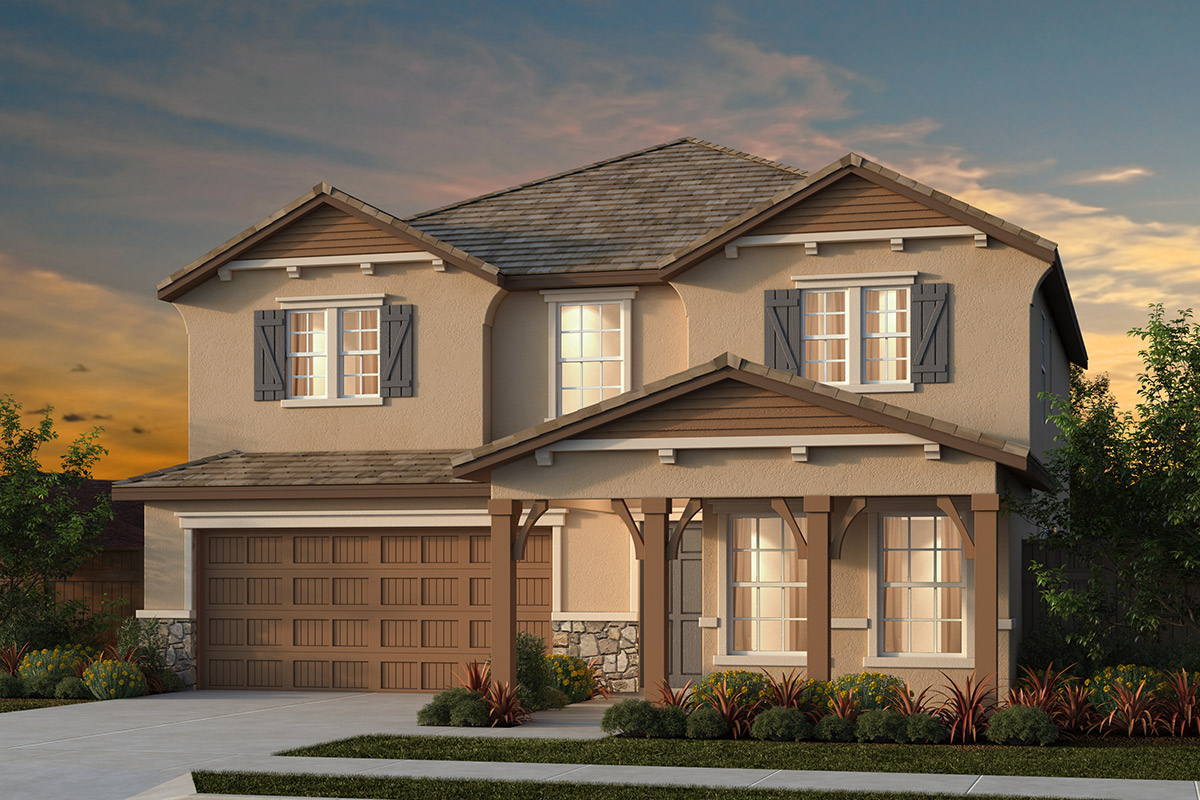New Homes in Manteca, CA - Haven Villas at Sundance Plan 2674 - French Cottage