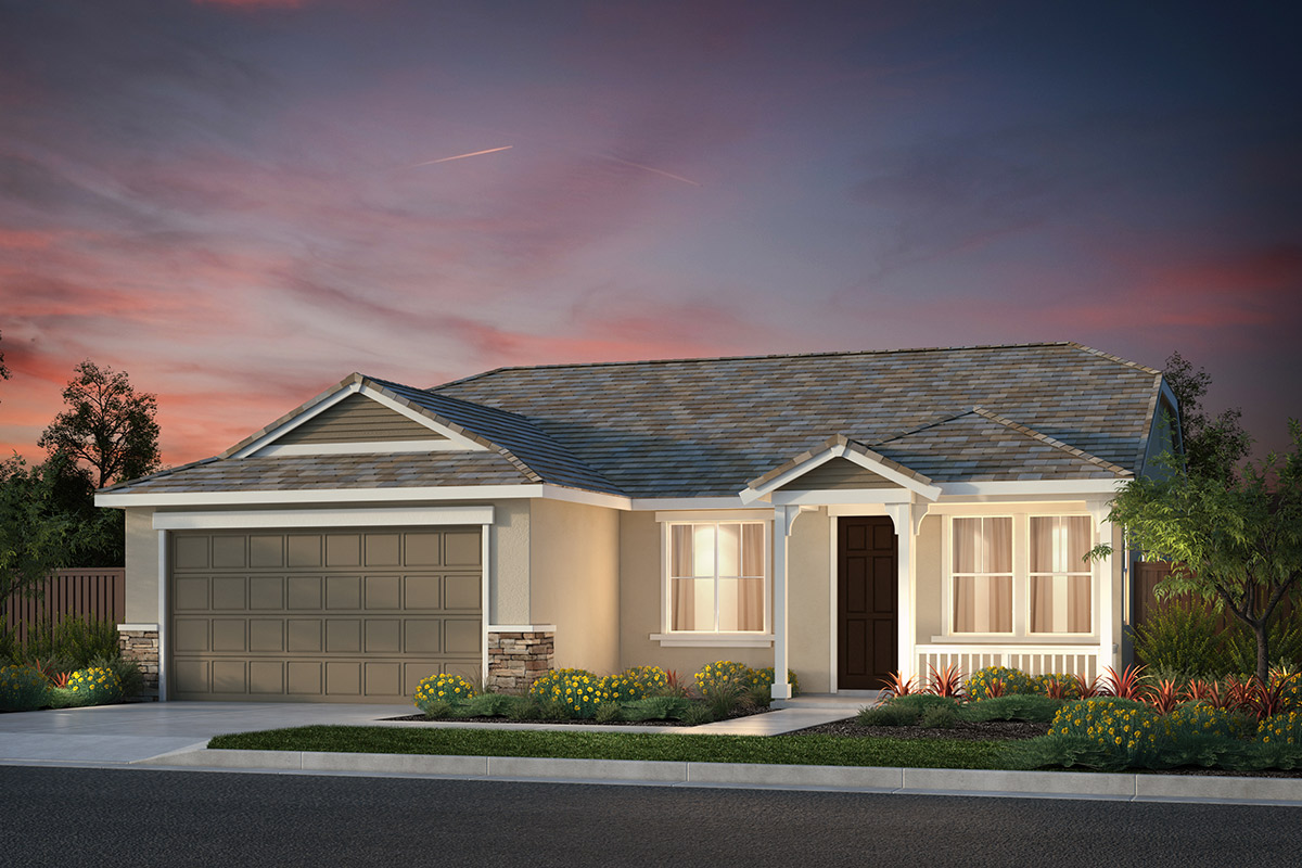 New Homes in Hollister, CA - Sunnyside Estates Plan 3 French