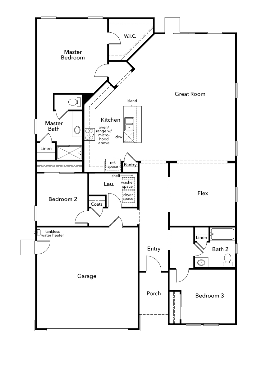 New Homes in Patterson, CA - Plan 1934, First Floor
