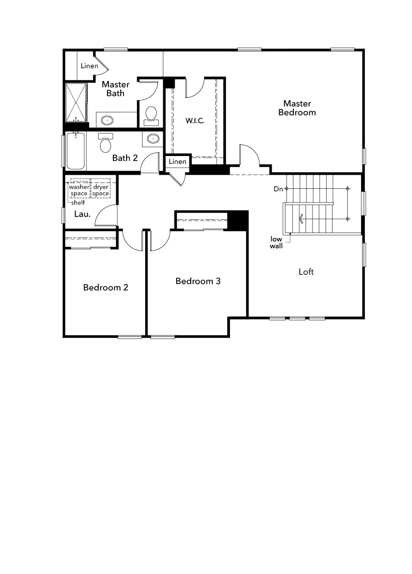 New Homes in Patterson, CA - Plan 2308, Second Floor