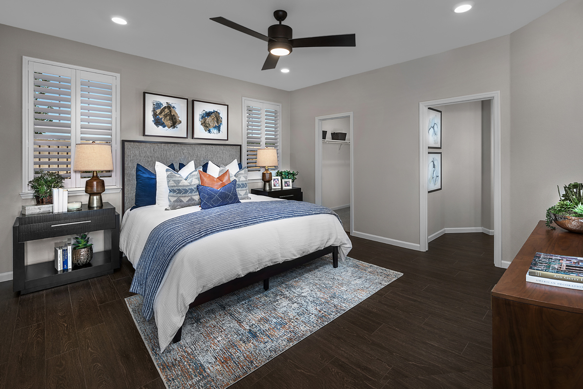New Homes in Patterson, CA - Turnleaf at Patterson Ranch Plan 1934 - Master Bedroom