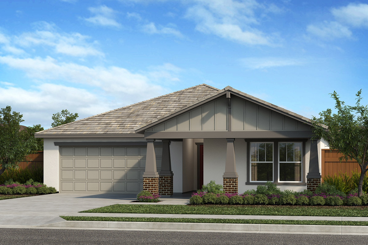 New Homes in Patterson, CA - Turnleaf at Patterson Ranch Plan 1450 Craftsman 'B'