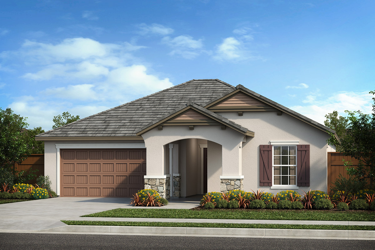 New Homes in Patterson, CA - Turnleaf at Patterson Ranch Plan 1450 French Cottage 'D'