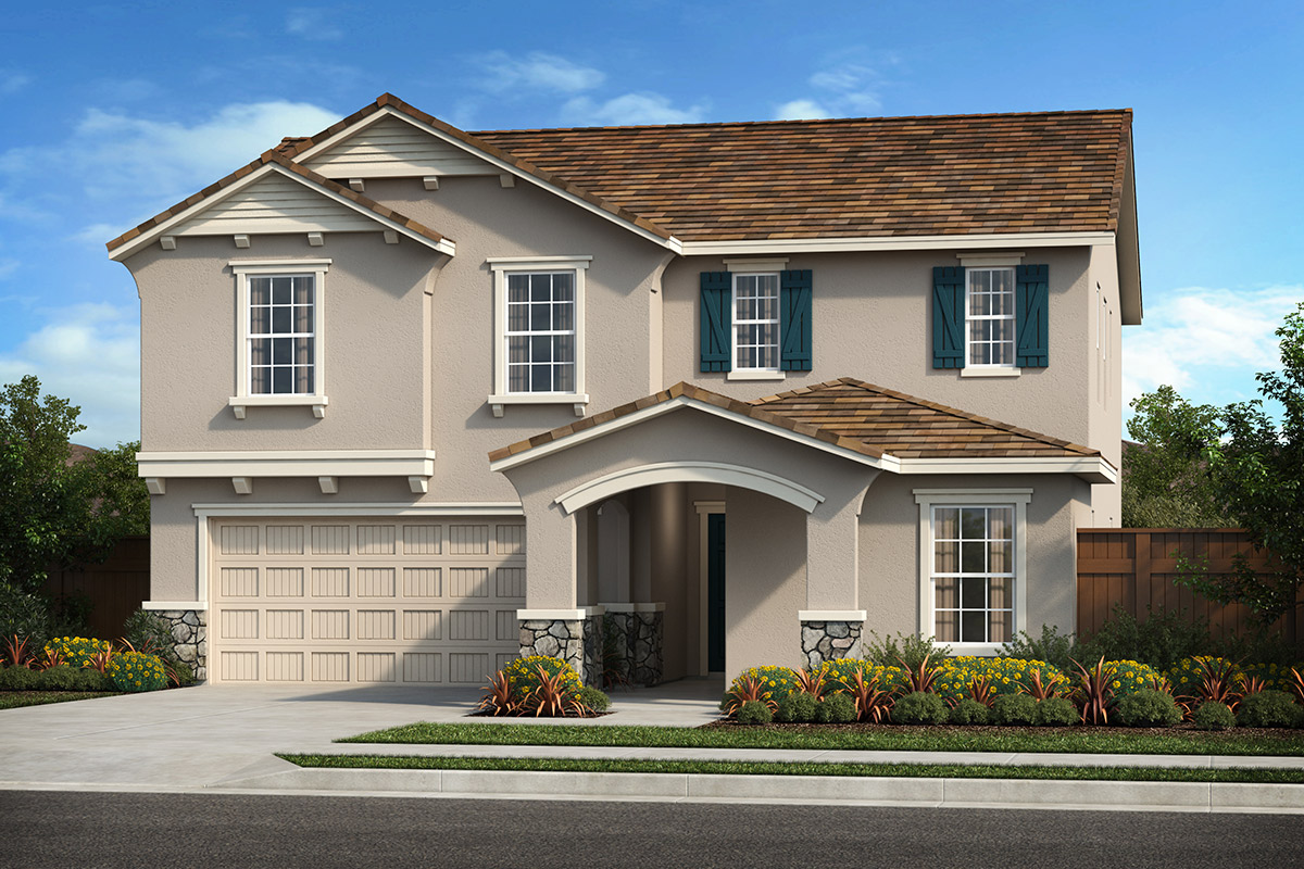 New Homes in Patterson, CA - Turnleaf at Patterson Ranch Plan 2308 French Cottage 'D'
