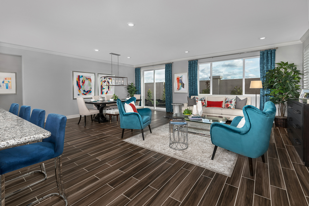 New Homes in Oakley, CA - Westerly at Delaney Park Plan 1 - Great Room
