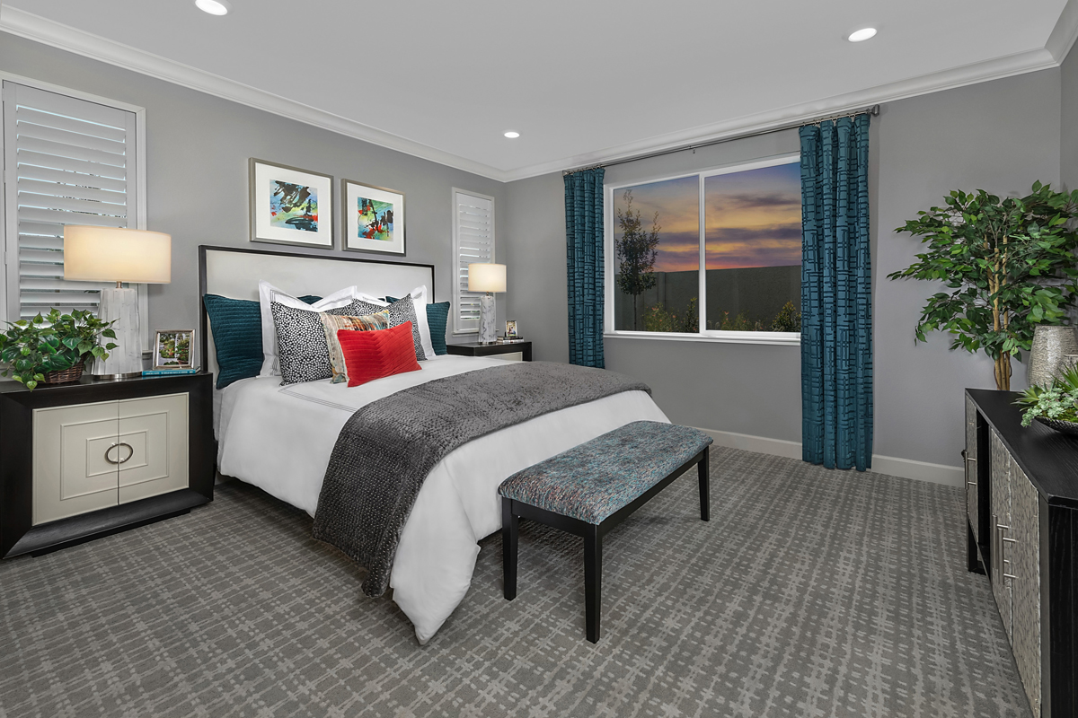New Homes in Oakley, CA - Westerly at Delaney Park Plan 1 - Master Bedroom