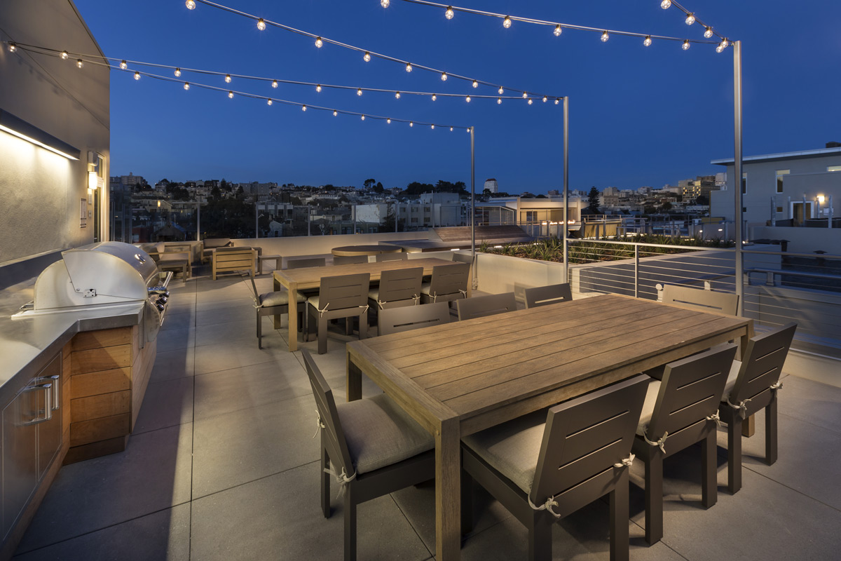 Roof Deck at The District, San Francisco