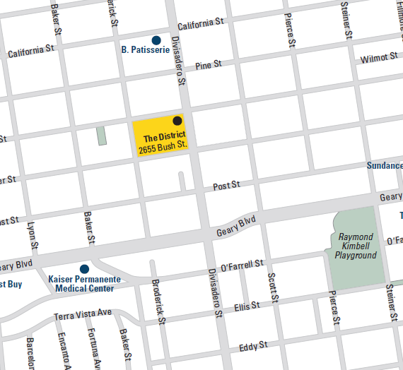 Sales Office Map - The District at Lower Pacific Heights, San Francisco