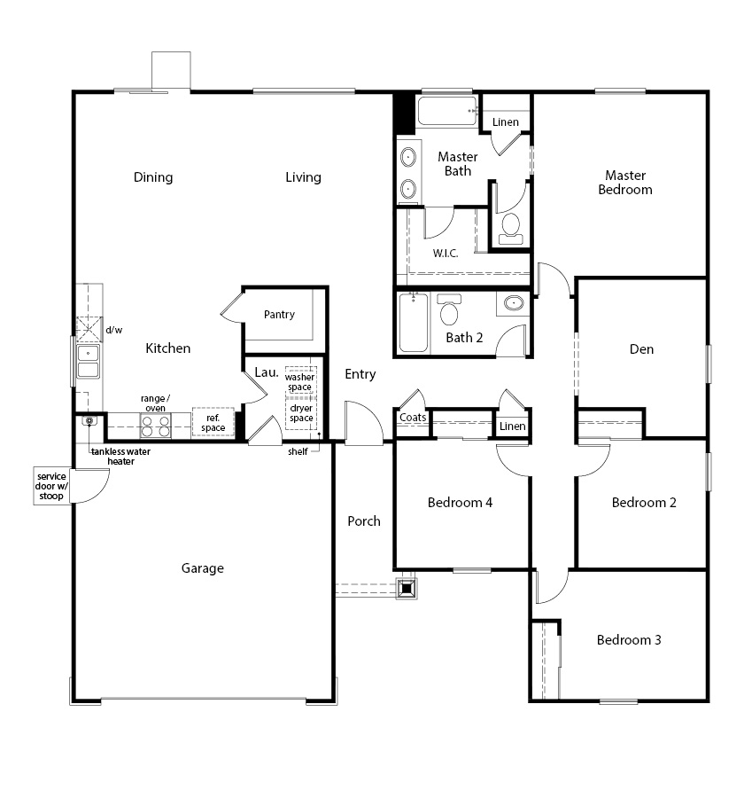 New Homes in Madera, CA - Plan 1773, First Floor