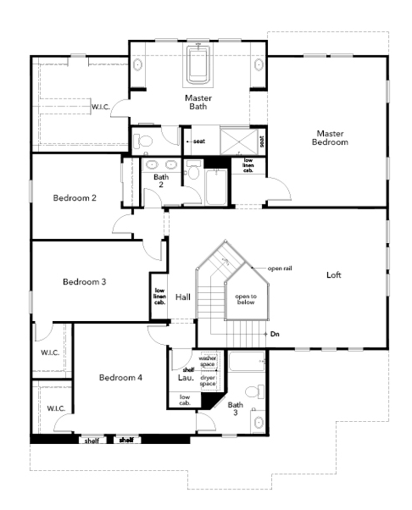 New Homes in Simi Valley, CA - Plan 3947, Second Floor