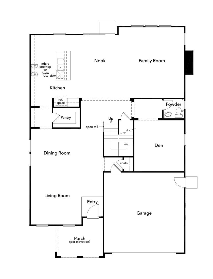 New Homes in Simi Valley, CA - Plan 3481, First Floor