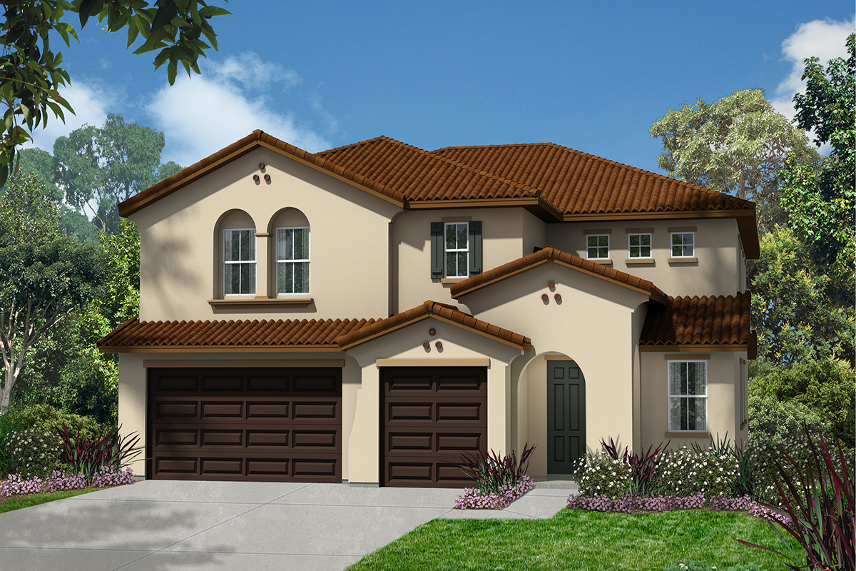 New Homes in Simi Valley, CA - Arroyo Heights at The Woodlands Plan 3947 Elevation A