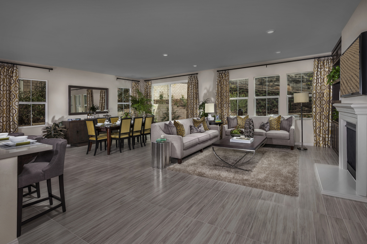 New Homes in Simi Valley, CA - Arroyo Vista at The Woodlands Residence 2414 Great Room