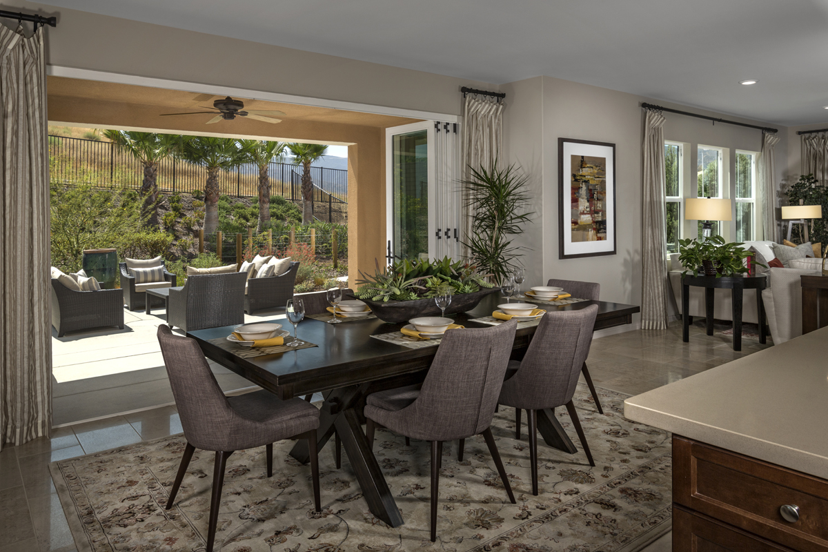 New Homes in Simi Valley, CA - Arroyo Vista at The Woodlands Residence 3292 Open Patio Doors