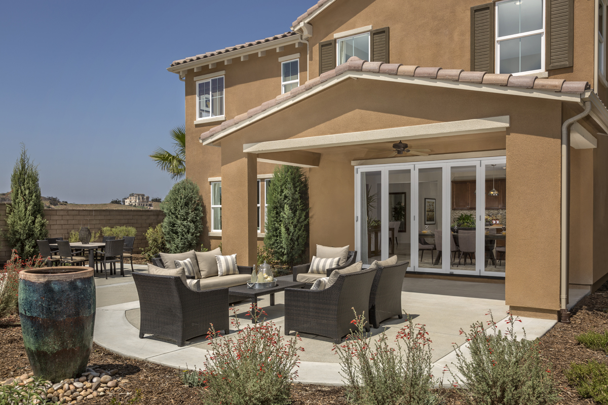 New Homes in Simi Valley, CA - Arroyo Vista at The Woodlands Residence 3292 Patio - Closed Doors