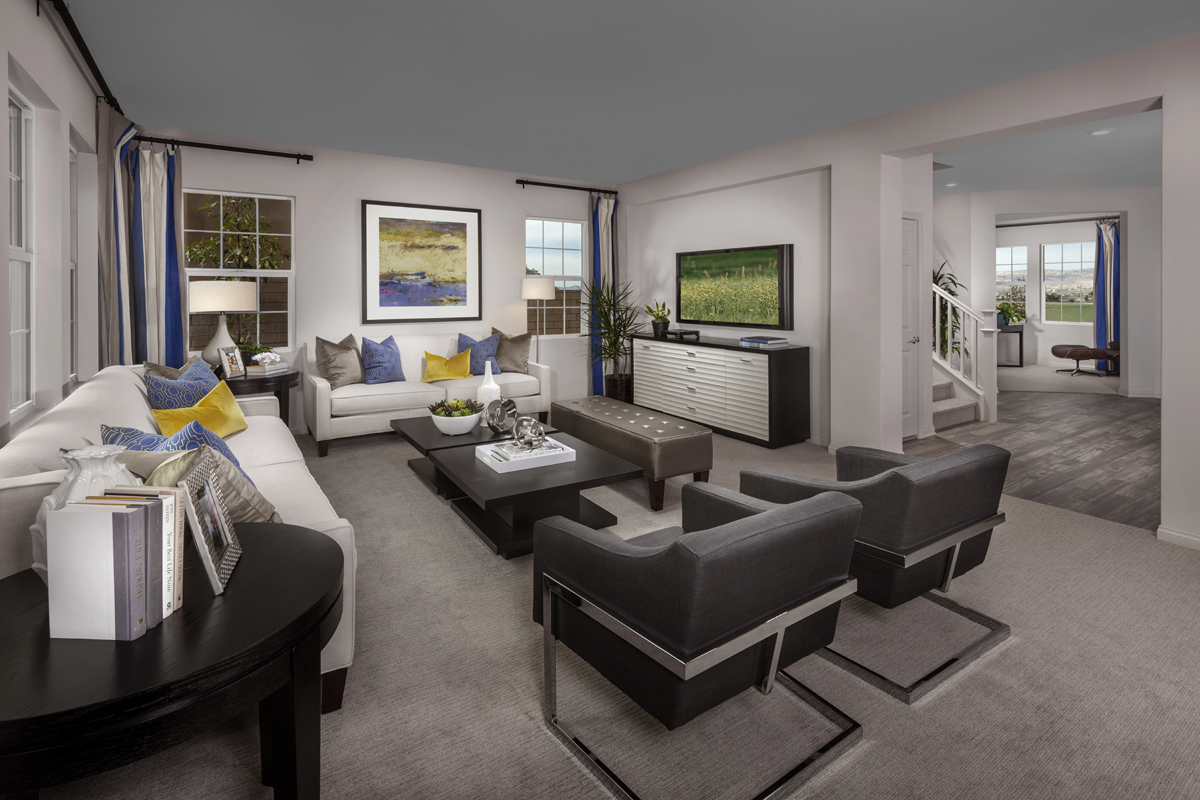 New Homes in Simi Valley, CA - Arroyo Vista at The Woodlands Residence 2852 Great Room