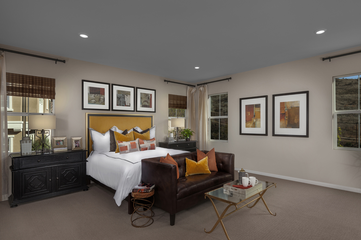 New Homes in Simi Valley, CA - Arroyo Vista at The Woodlands Residence 3292 Master Bedroom
