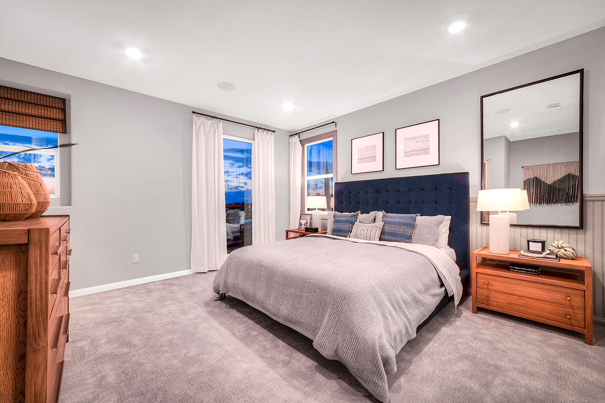 New Homes in Inglewood, CA - Axis at Grace Park Plan 2355 Master Bedroom