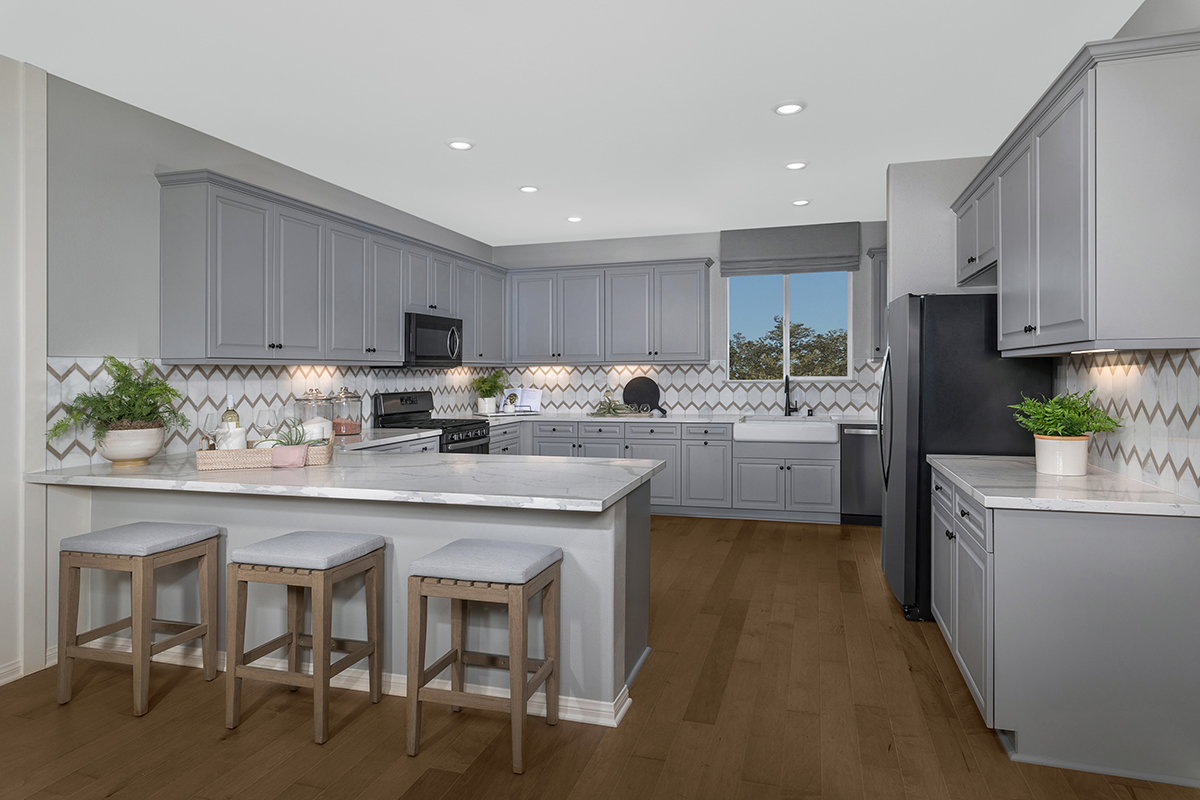 New Homes in Inglewood, CA - Axis at Grace Park Plan 2258 Kitchen