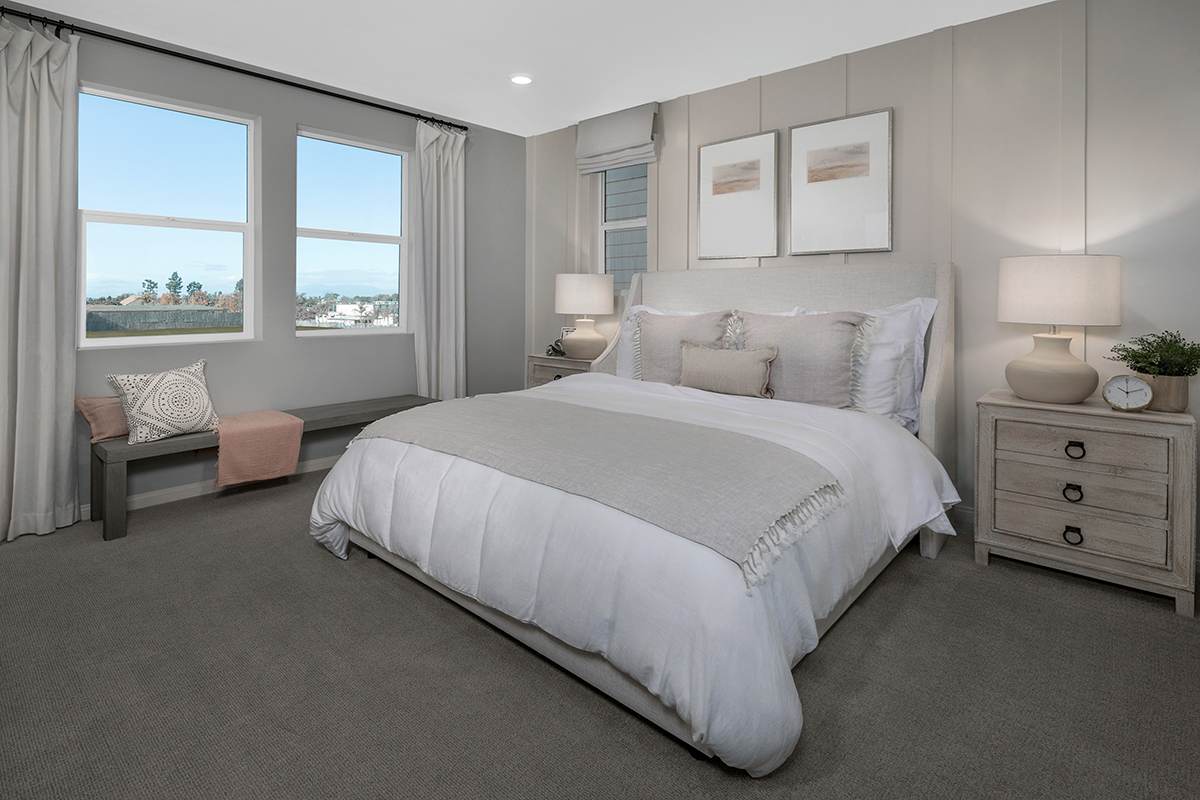 New Homes in Inglewood, CA - Axis at Grace Park Plan 2258 Master Bedroom