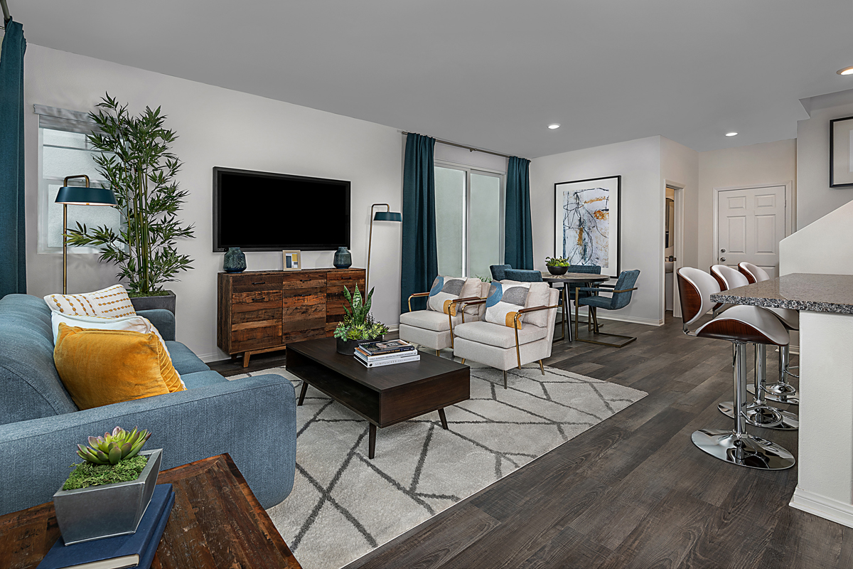 New Homes in Santa Clarita, CA - Bluma at Vista Canyon Plan 1401 Great Room