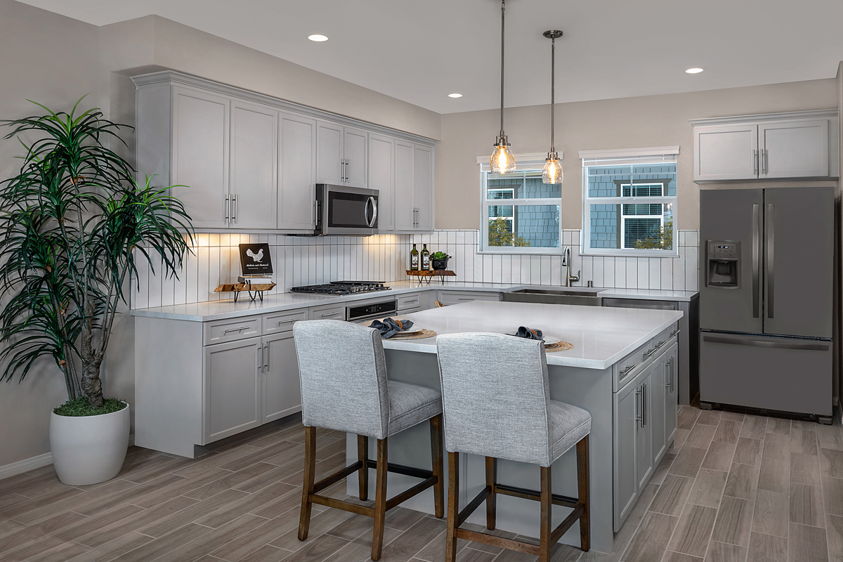 KB model home kitchen in Fillmore, CA