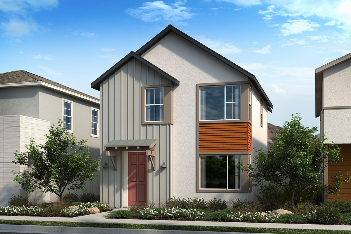 New Homes in Valencia, CA - Clover Plan 1412 Elevation A
