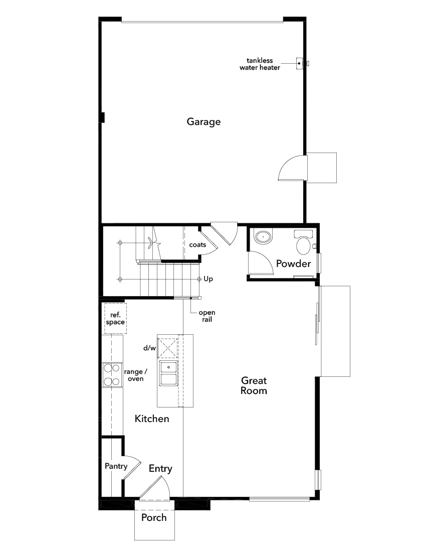 New Homes in Valencia, CA - Plan 1412, First Floor