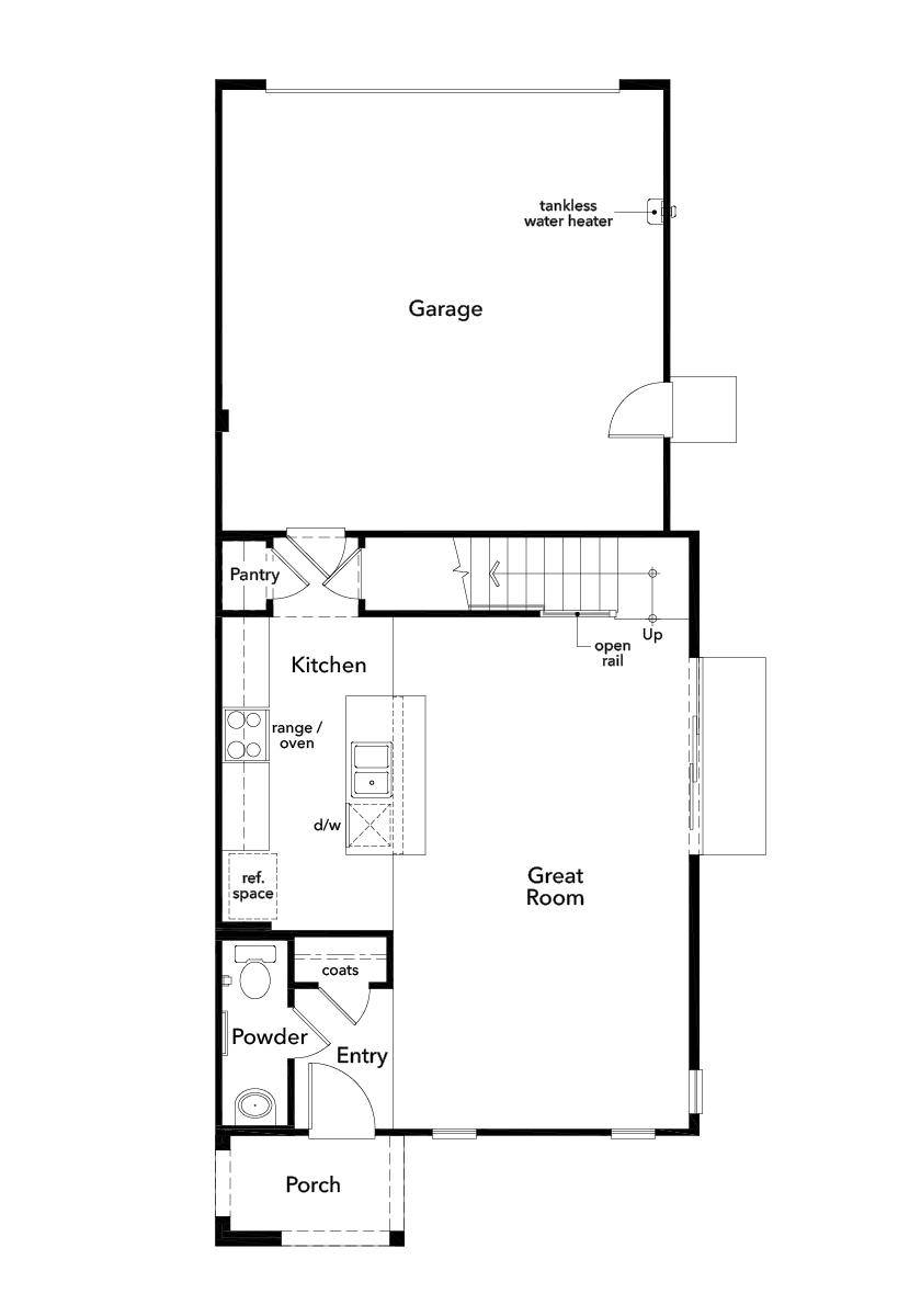 New Homes in Valencia, CA - Plan 1590, First Floor