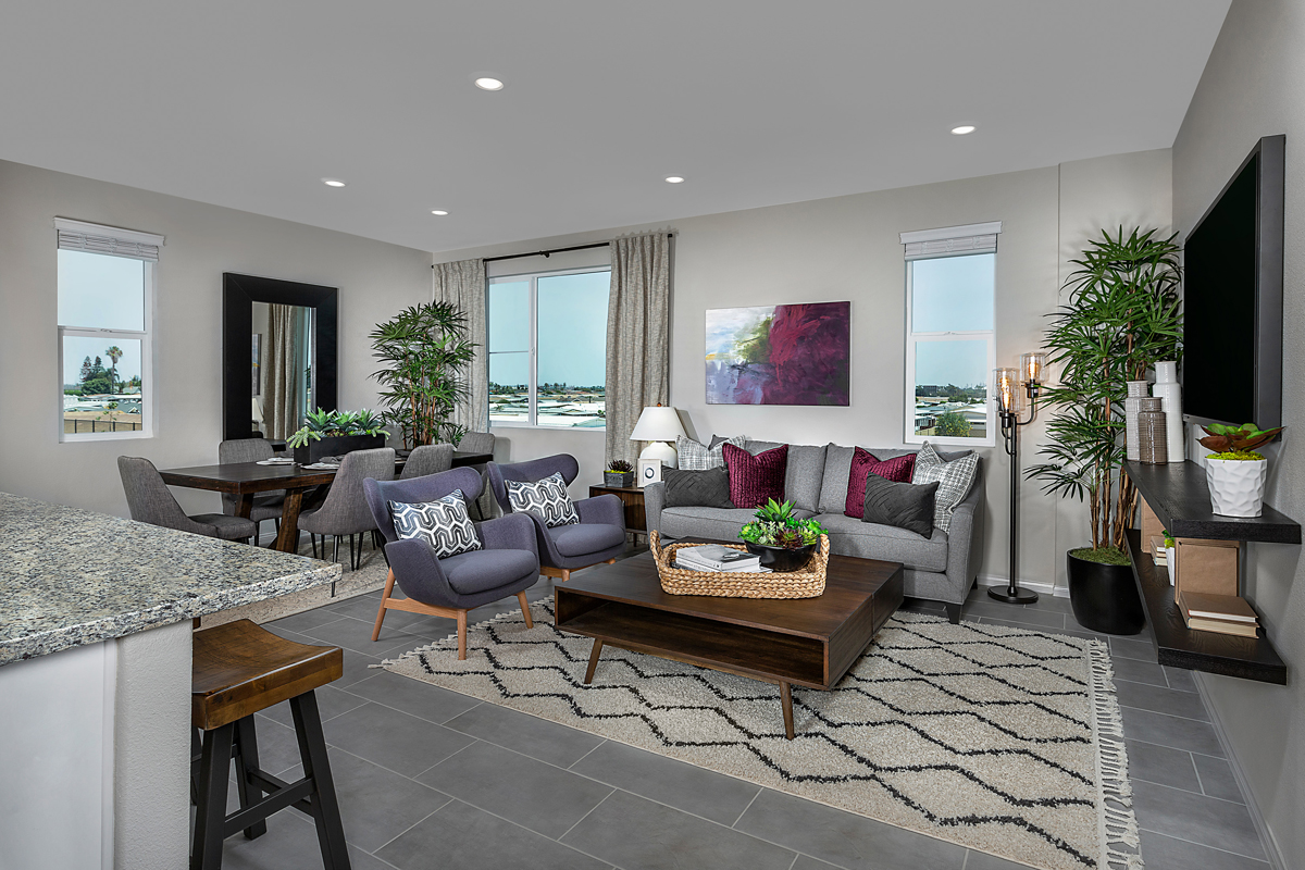 New Homes in Harbor City, CA - Cottages at Harbor Pointe Residence 1376 Great Room