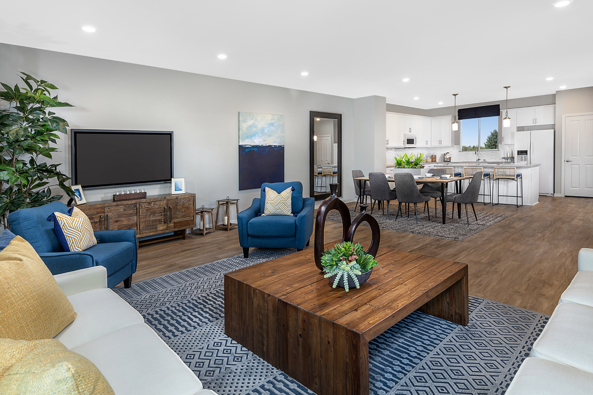 New Homes in Harbor City, CA - Villas at Harbor Pointe Residence 2376 Great Room