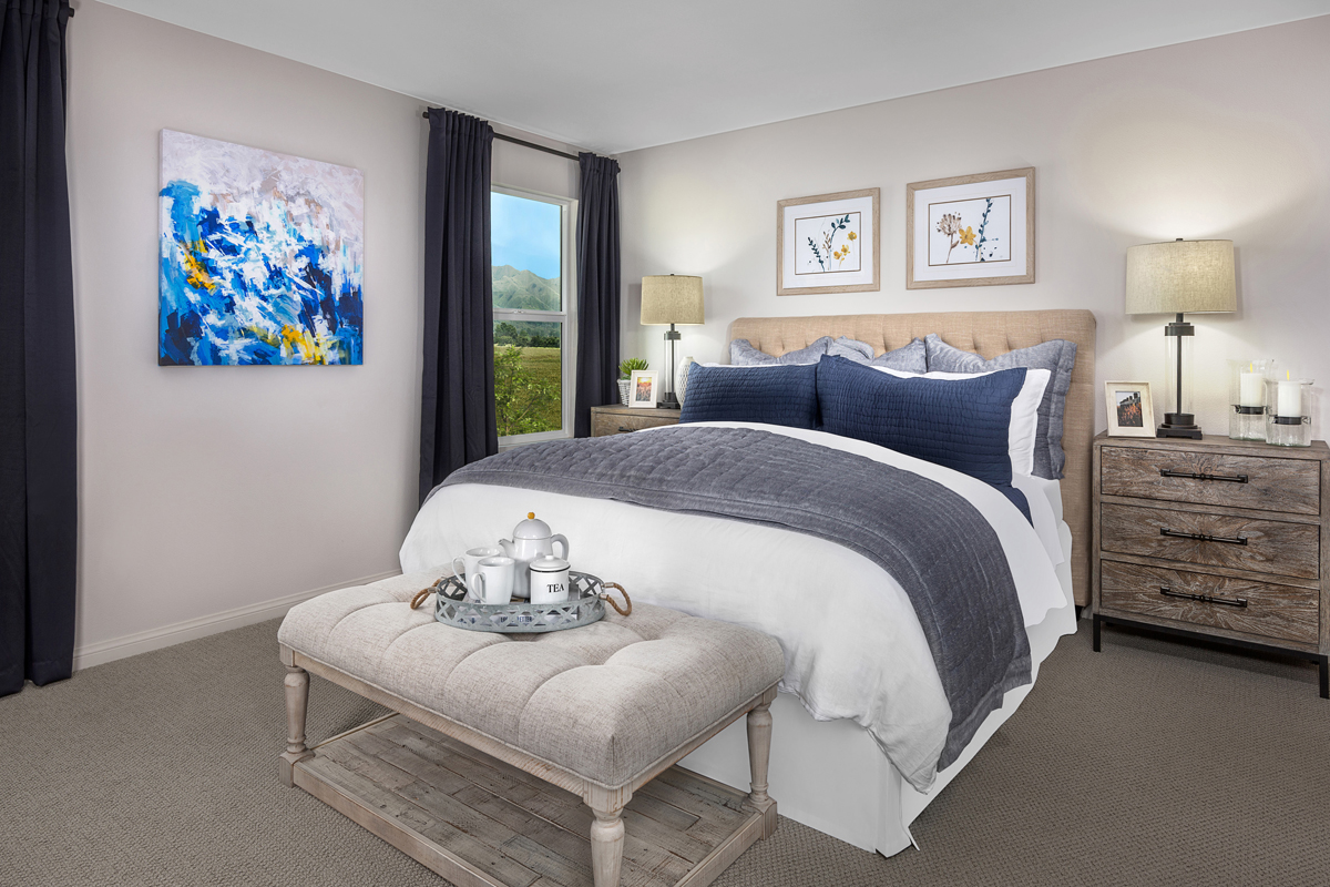 New Homes in Santa Paula, CA - Wildflower at Harvest at Limoneira Residence 2226 Master Bedroom