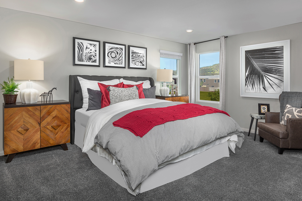 New Homes in Santa Paula, CA - Wildflower at Harvest at Limoneira Residence 2377 Master Bedroom