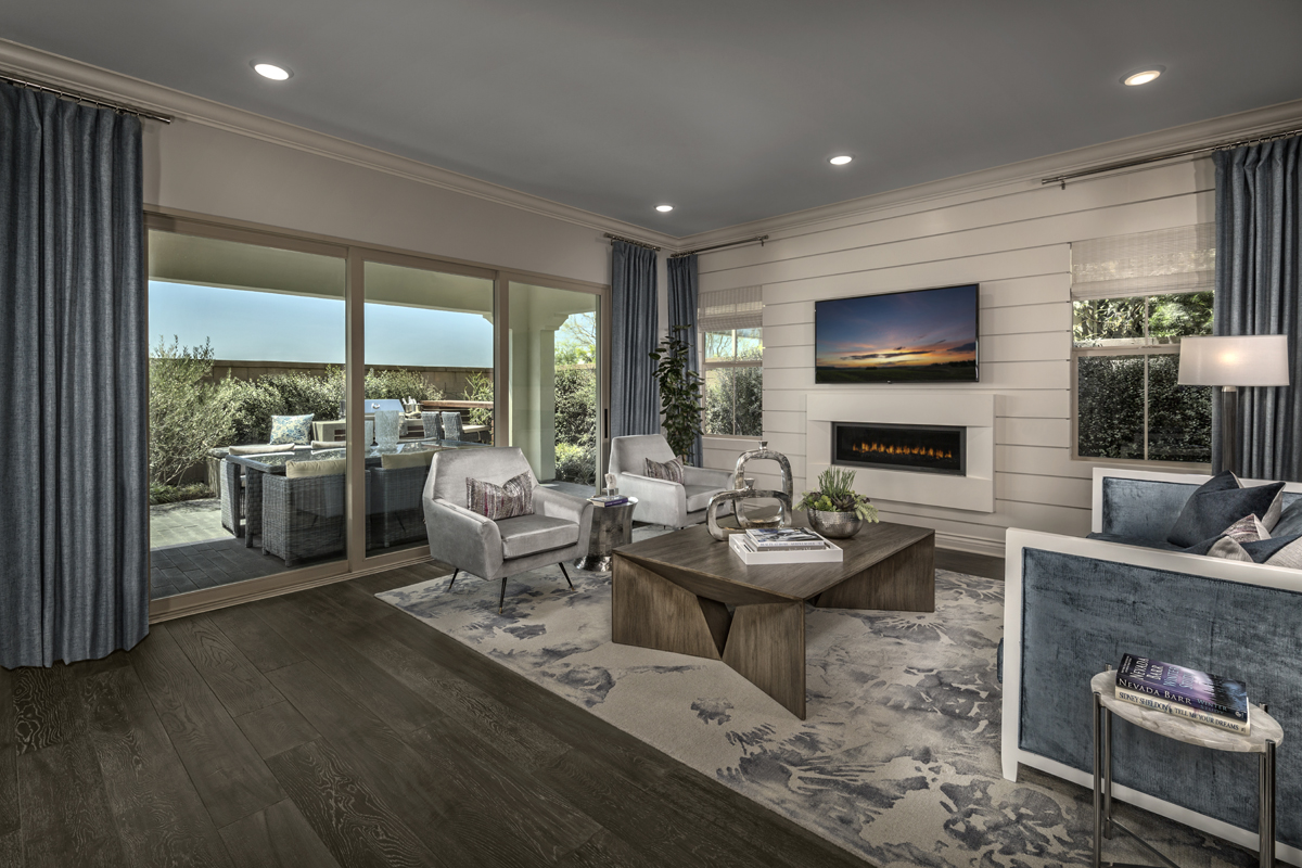 New Homes in Irvine, CA - Elderberry at Portola Springs Residence One Great Room