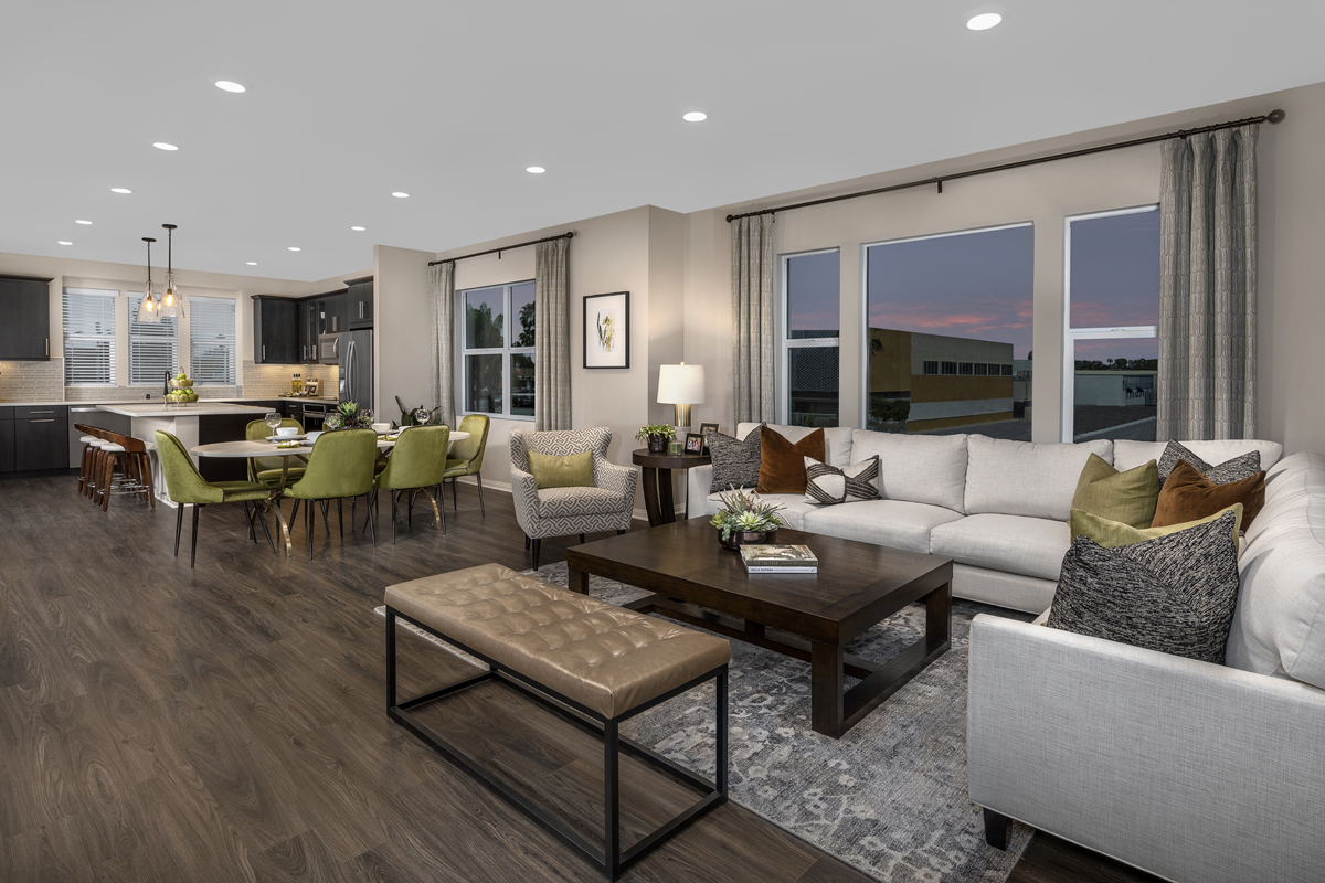 New Homes in Anaheim, CA - Euclid Place Residence 2X Great Room