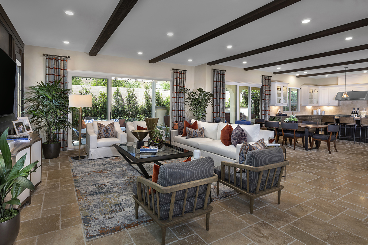 New Homes in Irvine, CA - Genoa at Orchard Hills Residence One Great Room