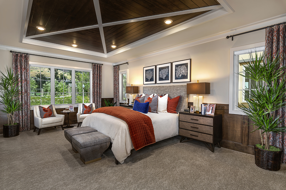 New Homes in Irvine, CA - Genoa at Orchard Hills Residence One Master Bedroom