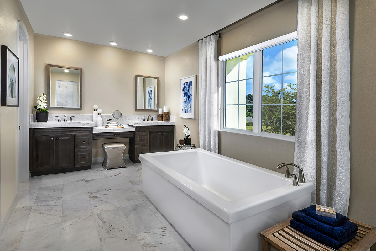 New Homes in Irvine, CA - Genoa at Orchard Hills Residence One Master Bathroom