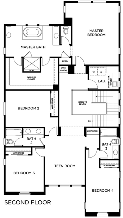 New Homes in Lake Forest, CA - Residence Two, Second Floor