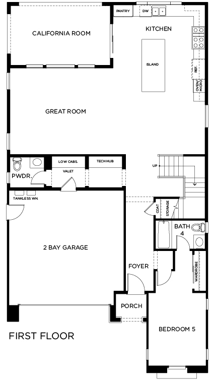 New Homes in Lake Forest, CA - Residence Two, First Floor