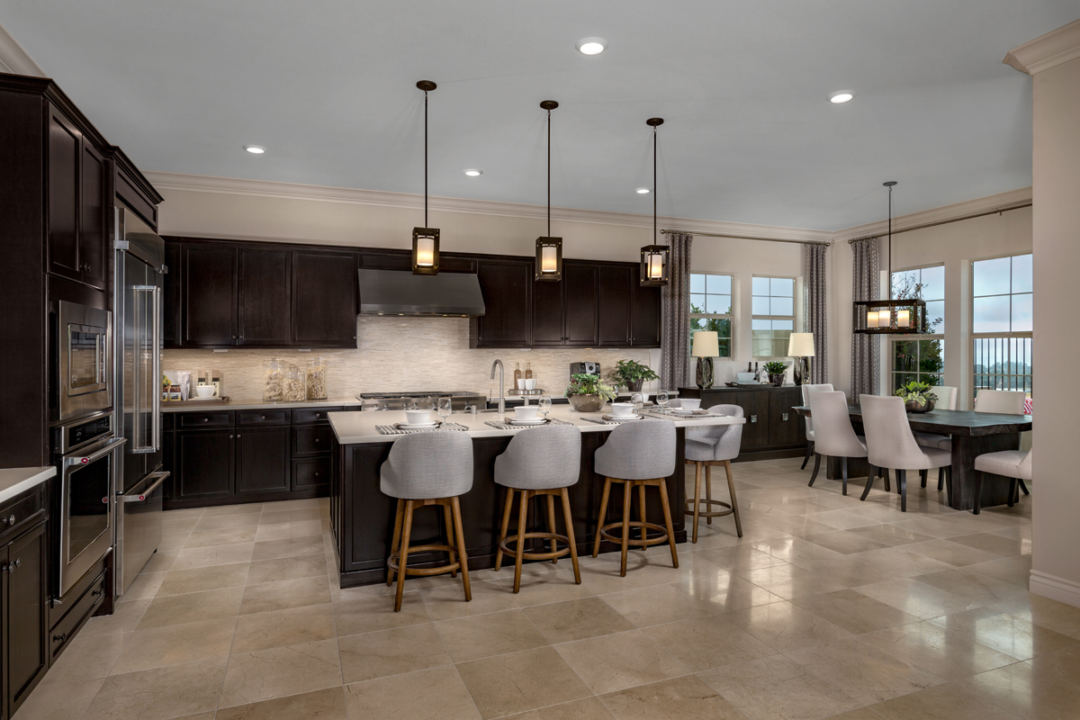 New Homes in Lake Forest, CA - Highmark at Ironridge Residence One Kitchen / Dining Room