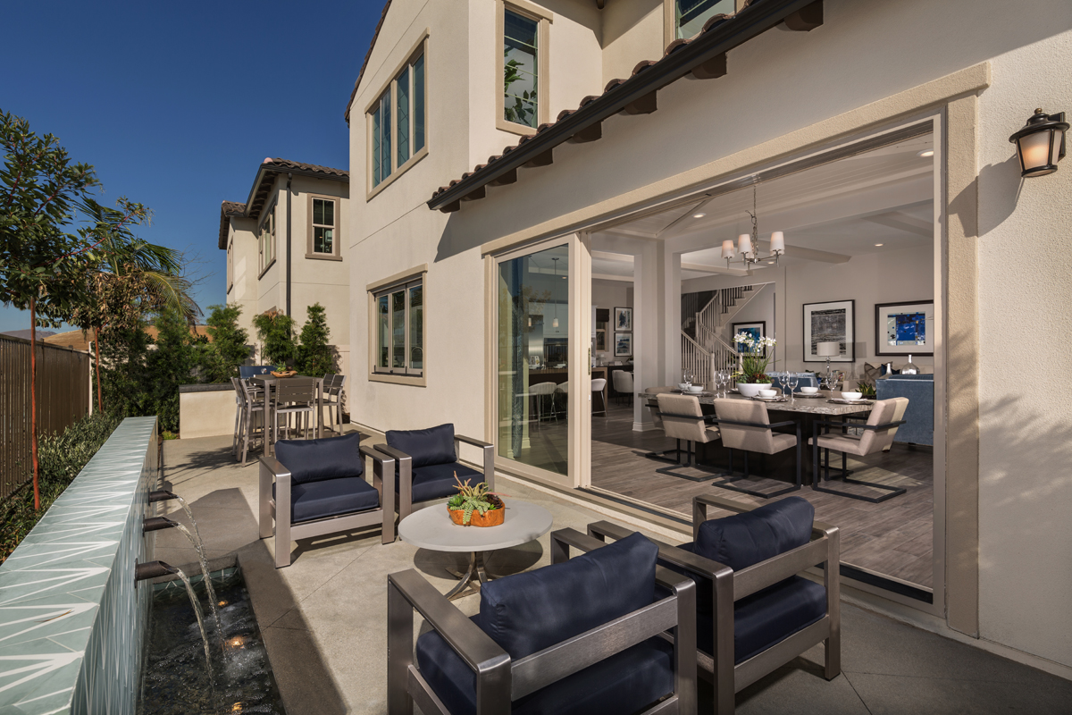 New Homes in Lake Forest, CA - Highmark at Ironridge Residence Two Patio