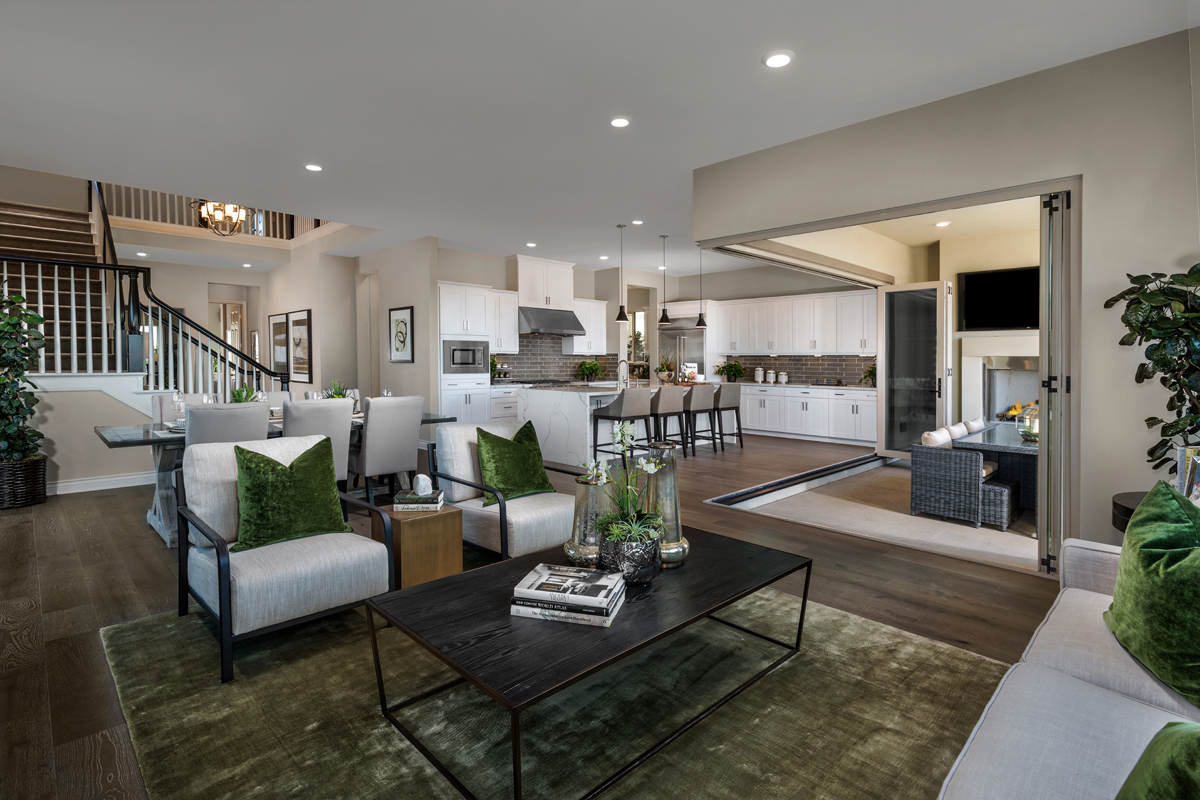 New Homes in Lake Forest, CA - Highmark at Ironridge Residence Three Great Room