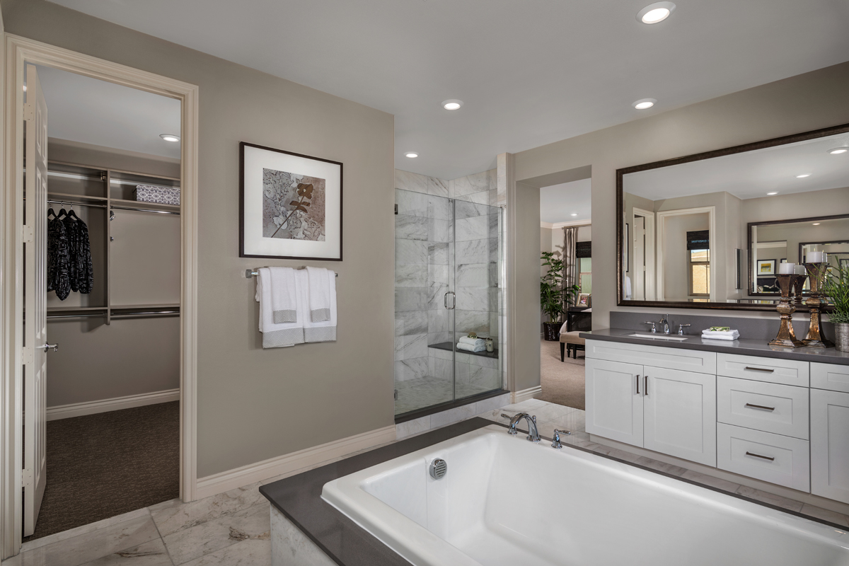 New Homes in Lake Forest, CA - Highmark at Ironridge Residence Three Master Bathroom