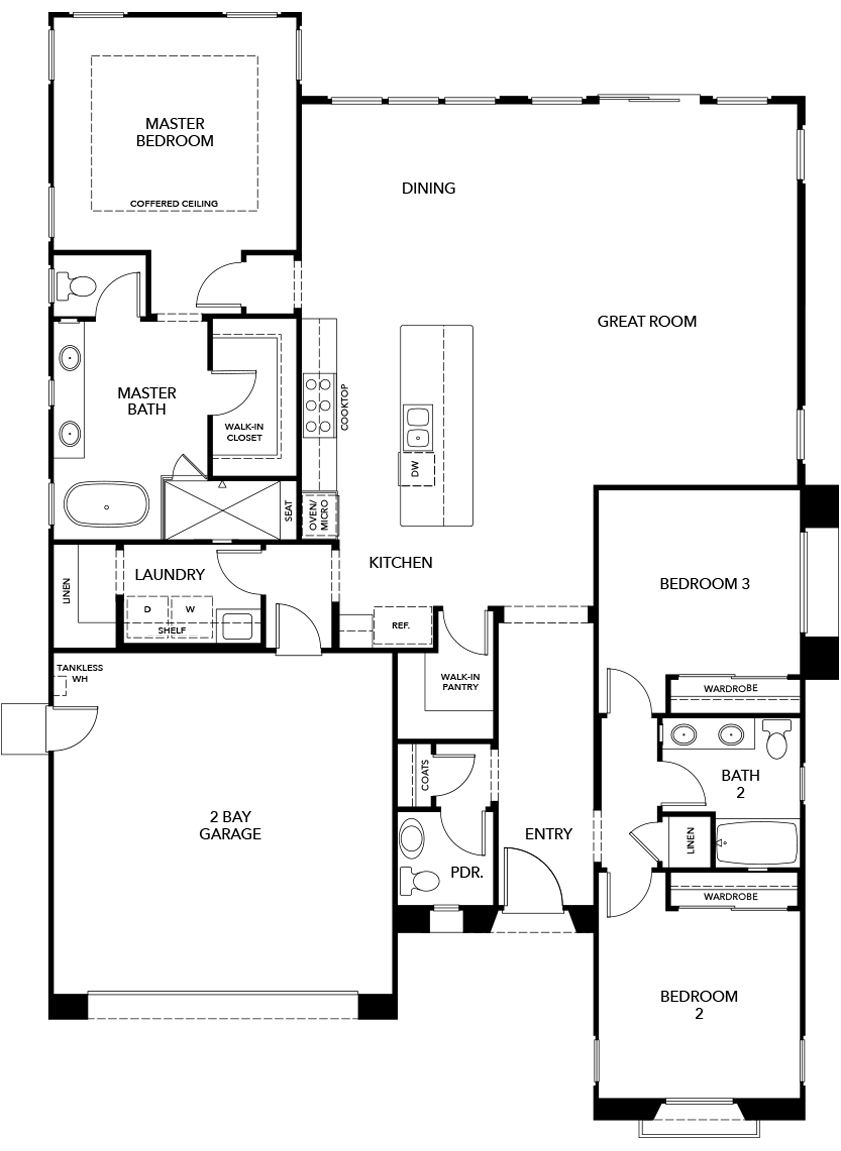 New Homes in Irvine, CA - Plan 2089, First Floor
