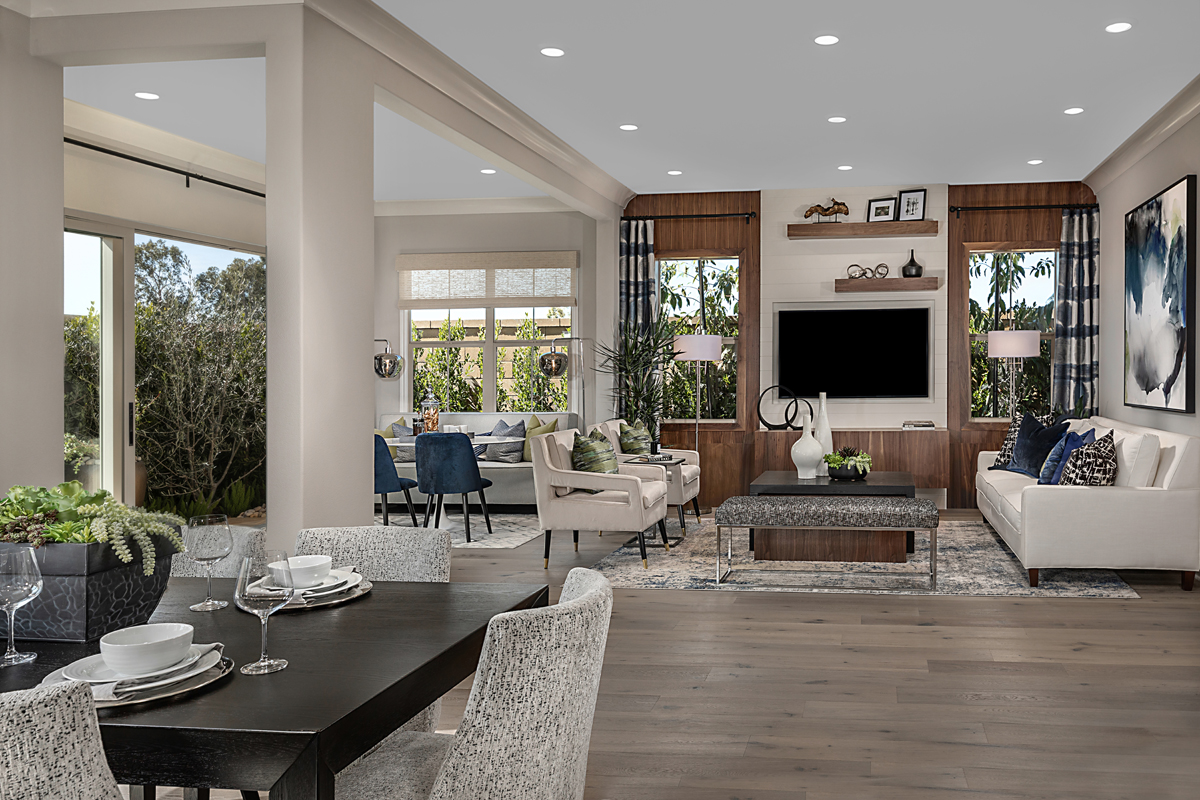 New Homes in Irvine, CA - Napa at Eastwood Village Residence Two - Great Room