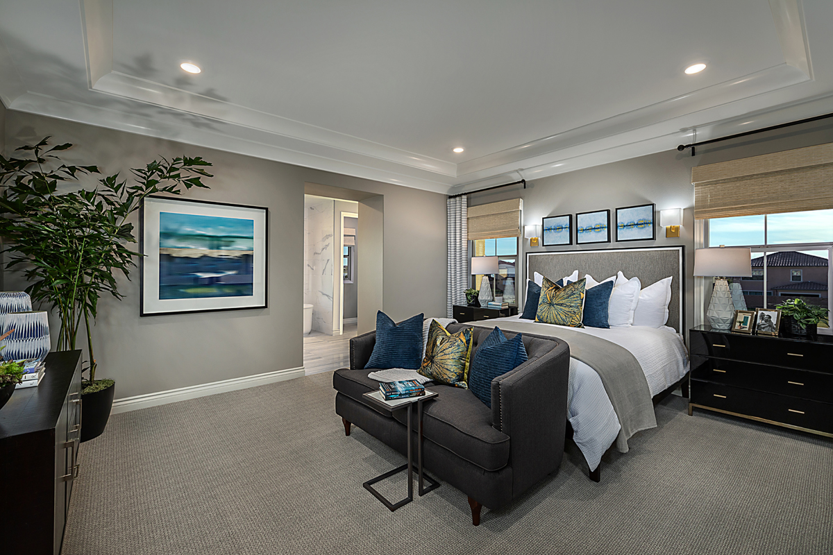 New Homes in Irvine, CA - Napa at Eastwood Village Residence Two - Master Bedroom