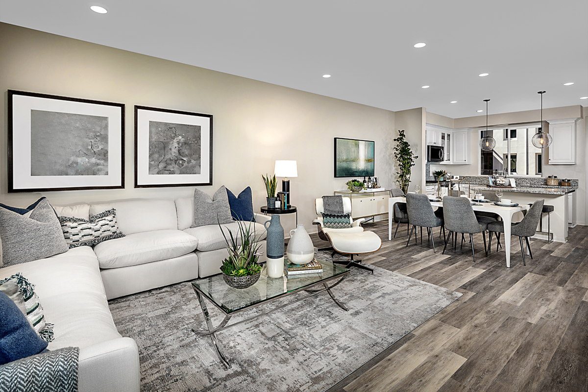 New Homes in Irvine, CA - Paseo Del Mar Residence Four Great Room